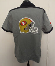 SAN FRANCISCO 49ERS LARGE SHIRT GRAY CHECK SCREEN NFL BUTTON DOWN UP WORK SHIRT