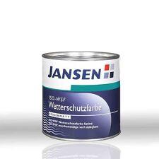Jansen ISO-WSF Wetterschutzfarbe weiß 0,75l -Holzfarbe Deckfarbe Holzschutzfarbe