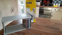 FELLOWES CD RACK HOLDS 22 DISCS - QUICK ASSEMBLEY - NEW/BOXED