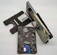 Skulls Pattern, Billet Aluminum Wallet/Credit Card Holder, RFID Protection, Blk