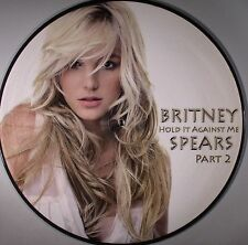 Britney Spears Hold It Against Me 2 Vinyl LP Picture Disc Remix Single NEW Rare