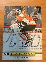 UPPER DECK 2019-2020 SERIES ONE CARTER HART CANVAS HOCKEY CARD C-33