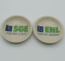 Émaux Longwy. Cendriers vide poches en faïence ENL, SGE, XXe
