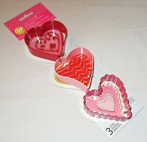 Wilton Heart Shape Valentine's Day Cookie Cutters 3 Cutters