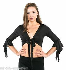 Tribal Belly Dance Butterfly 3/4 Sleeve Frills Wrap Choli Top Costume Gypsy UK