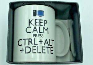 Keep Calm Press Ctrl Alt Delete - Printed Mug