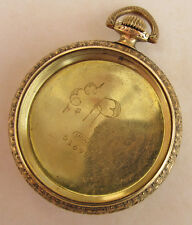 Antique MONITOR/Illinois Gold Filled Pocket Watch Case Engraved COW BOY Folk Art