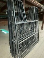 """New listing Six Very Slightly Used Standard Large 60"""" x 48"""" Horse Stall Gate - Black"""