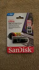 SanDisk 64GB Cruzer Ultra USB 3.0 100MB/s Flash Drive SDCZ48-064G-A46