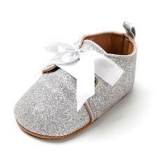 US Baby Tassel Soft Sole Glitter Shoes Infant Boy Girl Toddler Moccasin 0-18M