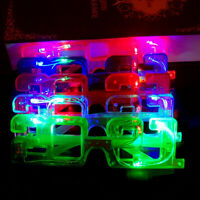 4pcs Glowing 2021 New Year Glasses LED Party Favors Flashing Costume Props