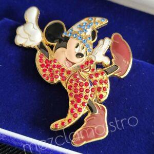 JDS Disney Mickey Mouse Swarovski Crystal LE Boxed Pin Opening Shibuya 37945