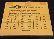 NOS BERGEON WINDING KEYS FOR POCKET WATCHES NO. 6033 - WATCHMAKERS TOOL