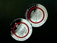BRD-Deutschland  5 Euro, 2017 F, Gedenkmünze, Tropische Zone, Polymer, pfr.,+.!