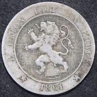 1861   Belgium 5 Centimes   Coins   KM Coins