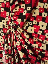 leona by leona edmiston stretch dress 8 red black beige geometric