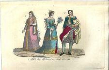 1833 MILANO Costumi Giulio Ferrario acquaforte su Rame