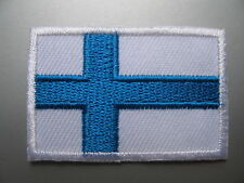 Finland Flag Small Iron On/ Sew On Patch Cloth Badge Finnish Suomi Suomen lippu