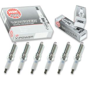 6 pcs NGK V-Power Spark Plugs for 2007-2011 Jeep Wrangler 3.8L V6 - Engine bj