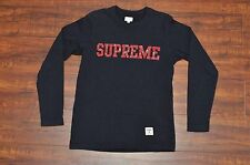 Supreme F/W 2011 Paisley Stitched Logo Long Sleeve Tee Shirt Size Small Navy CDG