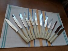 Vintage Set of 12 Stainless Steel Dinner Knives. USSR
