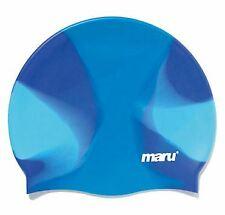 Maru- Multi Silicone Swim Hat- Blue-