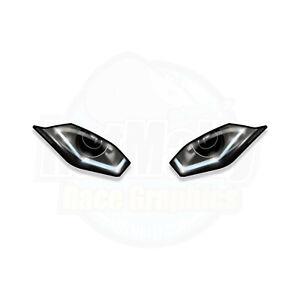 WSBK STYLE HEADLIGHT STICKERS - BMW S1000RR 2019> RACE TRACK GRAPHICS. RatMally