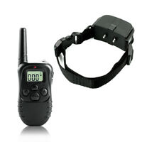 998D-1 300M Shock Vibra Remote Control LCD Electric Dog Training Collar UK