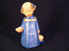 Singer Engel Kerzenhalter mit Puppe Blau Jullar 13,5 cm singender Engel