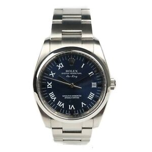 Rolex Air King 114200 Blue Dial 2007 Box & Papers