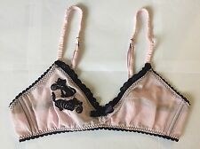 Agent Provocateur Cat Kitty Ball Of Yarn Soft Cup Bra Size Medium 3 Pink RARE