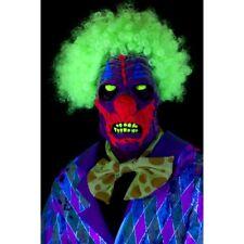 Vestito per Halloween Horror UV fosforescente Zombie Maschera da Clown Smiffys