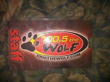 100.5 The Wolf Springfield, MO * Rare Authentic Staff Laminate Pass *