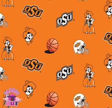140226251 - Oklahoma State University OSU Cowboys Fleece Fabric NCAA By the Yard