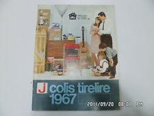 COLIS TIRELIRE 1967 catalogue des magasins J Meuble Electroménager Vaisselle
