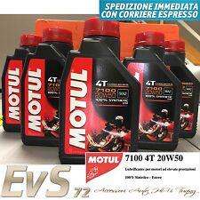 5 Litri Motul 7100 20W50 4T Olio Motore Moto Scooter 100% Sintetico Tech ESTERE