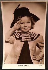 RPPC Real Photo Postcard ~ Shirley Temple Salutes ~ USA Child Movie Star