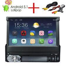 Autoradio 1 Din Android 5.1 estéreo Quad Core Car GPS navegación Bluetooth Radio