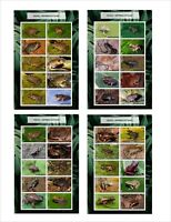 2020 AFRICAN FROGS  8 SOUVENIR SHEETS MNH UNPERFORATED AMPHIBIANS FROG