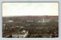 Washington DC, Washington Monument, Aerial, Capitol, Vintage Postcard Z32