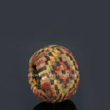 Genuine ancient Roman beads: Roman mosaic glass checkerboard bead, 1-3 century