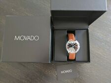 Movado Herritage Swiss Calendomatic Automatic Black Dial Crystal Men's Watch