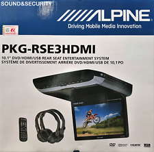 "ALPINE PKG-RSE3HDMI 10.1"" OVERHEAD VIDEO MONITOR W/ BUILD-IN DVD & HDMI INPUTS"