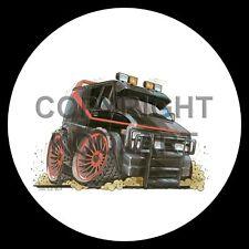 Koolart 4x4 4 x 4 Spare Wheel Graphic A Team Van Sticker 1583