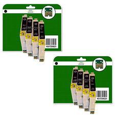 8 Noir cartouches d'encre pour Epson C64 C66 C84 C84N C84WN C86 non-FEO E441-4