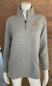 Womens CHAMPION UNIVERSITY OF TEXAS LONGHORNS PULLOVER Long Sleeve ZIP nwt SMALL