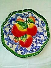 "Fritz and Floyd Classic Hanging Plate - Apples - 7.5"" in diameter"