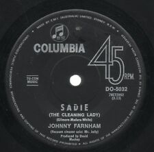 "JOHNNY FARNHAM     Rare 1st 1967 Australian Only 7"" OOP Pop Single ""Sadie"""