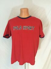 Vintage Mens Ralph Lauren Polo Sport Boston Red Sox Style Tee Shirt Size XL