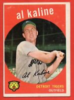 1959 Topps #360 Al Kaline VG-VGEX+ CREASE HOF Detroit Tigers FREE SHIPPING